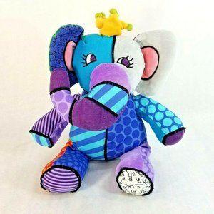 Romero Britto PopPlush Elephant Royalty Jasper Toy